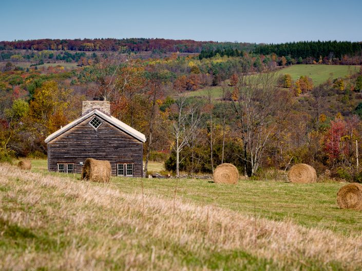Autumn | Fall Farmland Landscape Photograph with Farmhouse by Dave Butterworth | EyeWasHere Playing With A Camera, Upstate NY Landscape Photography