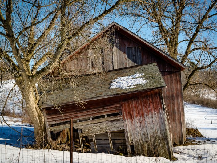 Barn Collapsing | Upstate NY Photography | New York Landscapes and Scenes | Albany NY Photographer Dave Butterworth | EyeWasHere Photography | Eye Was Here