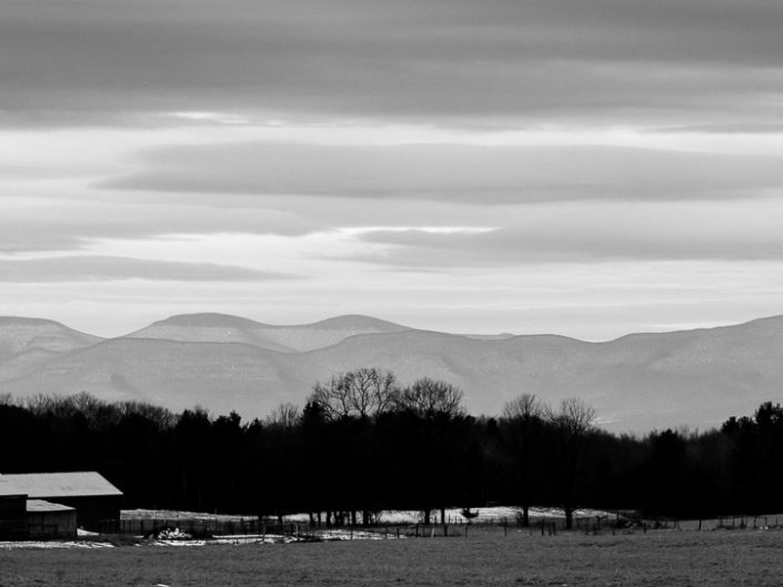 Catskill Mountains 2 | Hudson Valley Black and White Landscape Photography by Dave Butterworth | EyeWasHere Paint it Black