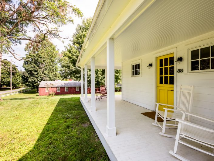 Chatham NY Farmhouse White Front Porch | Upstate NY Residential Home Exterior Photography | Exteriors | New York Architectural Photographer Dave Butterworth | Real Estate | Albany NY | Saratoga Springs | Hudson Valley | Catskills | EyeWasHere