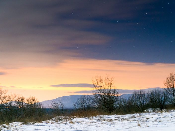 Clear Night | Winter Night With Stars Landscape Photo by Dave Butterworth | EyeWasHere Playing With A Camera, Upstate NY Landscape Photography