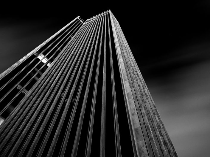 Corning Tower | Albany NY State Plaza Black and White Photo by Dave Butterworth | EyeWasHere Paint it Black