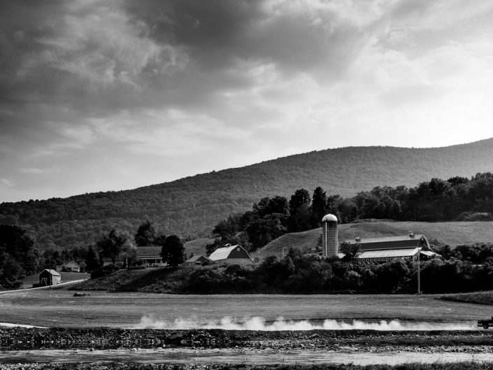 Dirt Road | Black and White Farm Landscape Moving Truck Photograph by Dave Butterworth | EyeWasHere Paint it Black