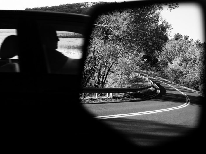 Drivers Side Mirror | Black and White Photo by Dave Butterworth | EyeWasHere Paint it Black