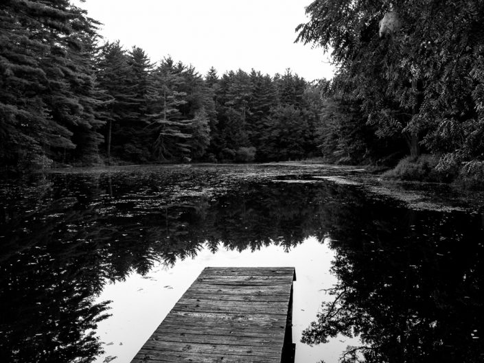 Empty Dock | Lake George Black and White Photography by Dave Butterworth | EyeWasHere Paint it Black
