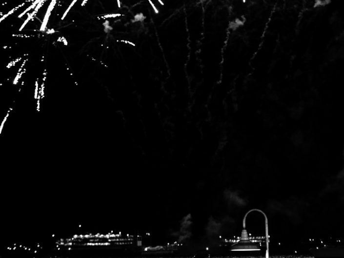 Fireworks | Lake George NY Black and White Fireworks People Photograph by Dave Butterworth | EyeWasHere Paint it Black