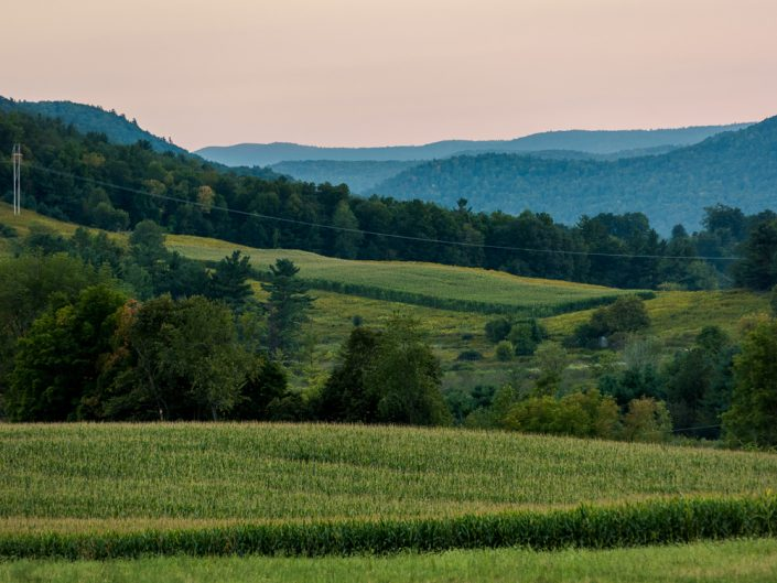 Hoosick NY Farm At Sunset | Sunset Over Farm Land Photograph by Dave Butterworth | EyeWasHere Playing With A Camera, Upstate NY Landscape Photography