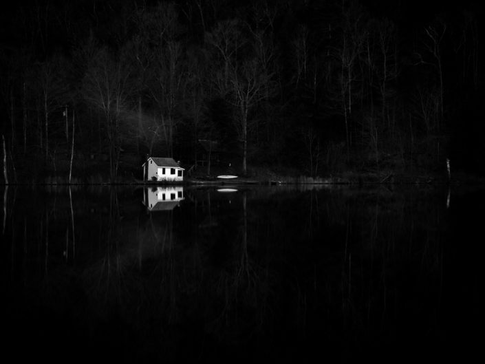 Home On The Lake | Black and White Photograph by Dave Butterworth | EyeWasHere Paint it Black