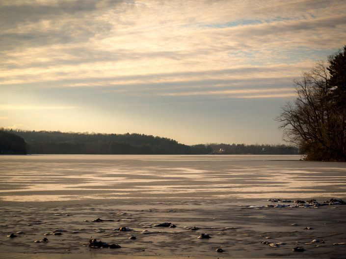 Icy Lake | New York Frozen Lake Sunset Landscape Photo by Dave Butterworth | EyeWasHere Playing With A Camera, Upstate NY Landscape Photography