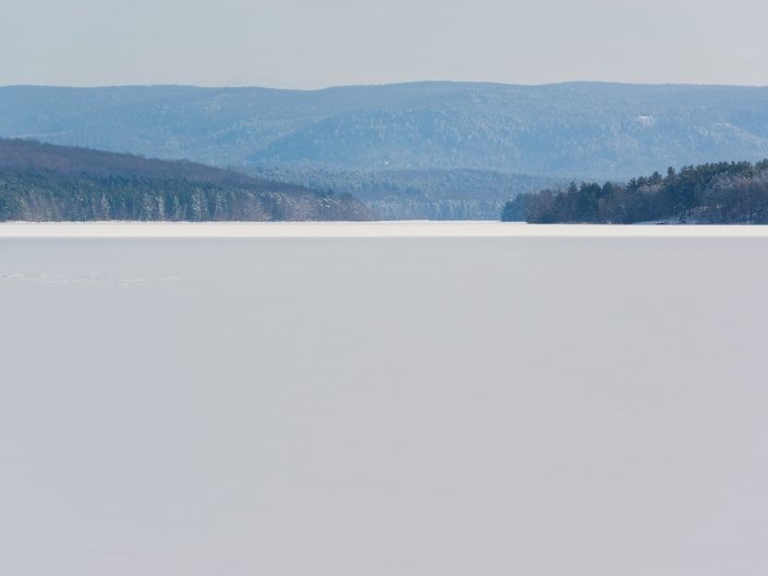 Icy Reservoir | Upstate NY Winter Frozen Lake Landscape Photo by Dave Butterworth | EyeWasHere Playing With A Camera, Upstate NY Landscape Photography