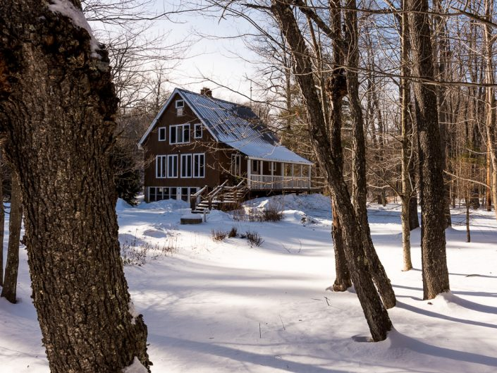 Jamaica VT Winter Cabin Airbnb Vacation Rental | Upstate NY Residential Home Exterior Photography | Exteriors | New York Architectural Photographer Dave Butterworth | Real Estate | Albany NY | Saratoga Springs | Hudson Valley | Catskills | EyeWasHere