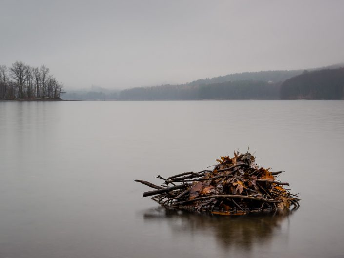 Leaves & Sticks On The Tomhannock Reservoir | Troy NY Landscape Photo by Dave Butterworth | EyeWasHere Playing With A Camera, Upstate NY Landscape Photography