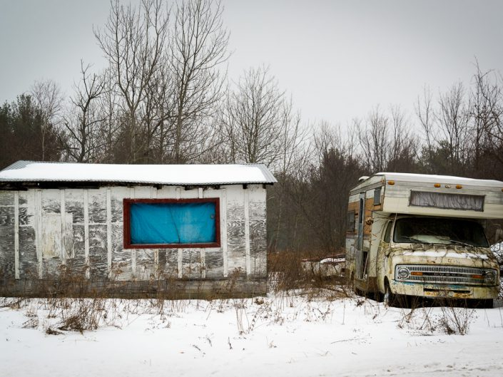Motor Home & Shack | Upstate NY Photography | New York Landscapes and Scenes | Albany NY Photographer Dave Butterworth | EyeWasHere Photography | Eye Was Here