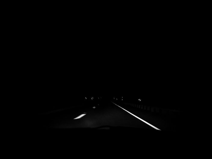 Night Drive 2 | New York Black & White Landscape Photography by Dave Butterworth | EyeWasHere Paint it Black