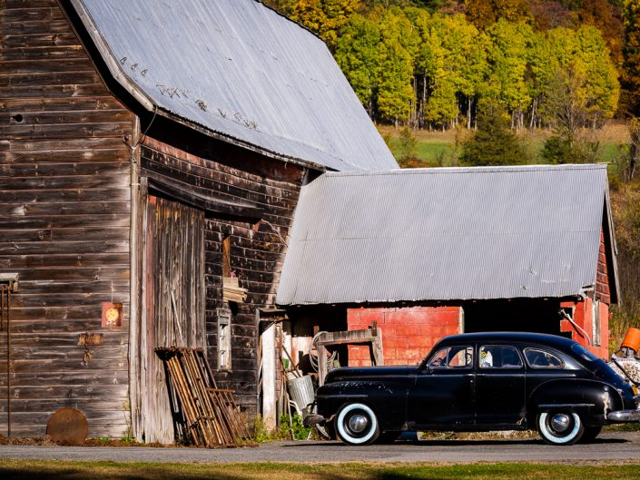 Old Barn & Car | Upstate NY Photography | New York Landscapes and Scenes | Albany NY Photographer Dave Butterworth | EyeWasHere Photography | Eye Was Here