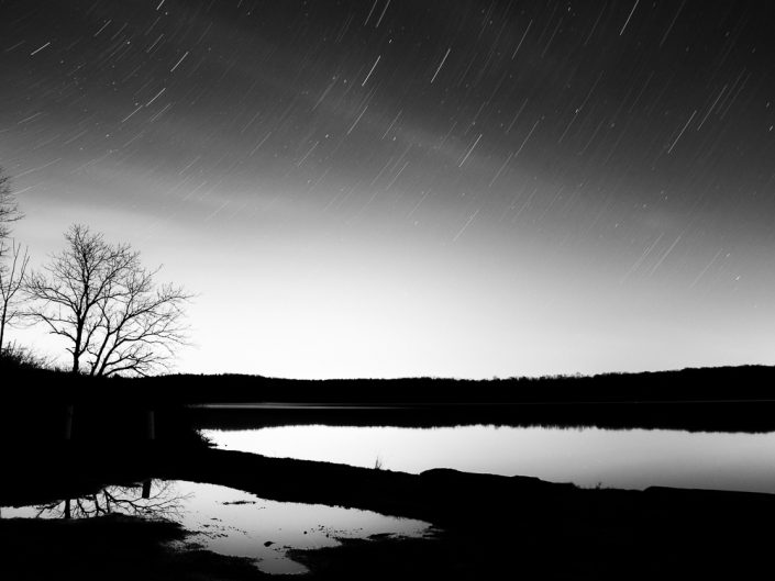 Puddle | Upstate New York Black and White Night Photography by Dave Butterworth | EyeWasHere Paint it Black