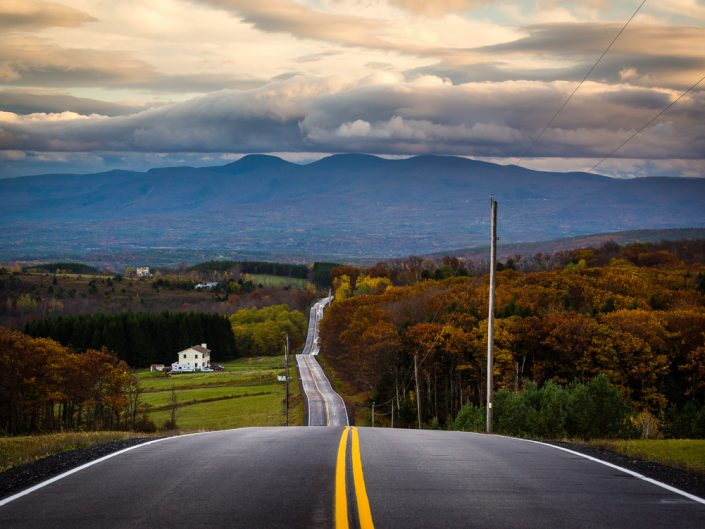 Rensselaerville Highway | NY Fall Sunset Catskill Mountains Highway by Dave Butterworth | EyeWasHere Playing With A Camera, Upstate NY Landscape Photography