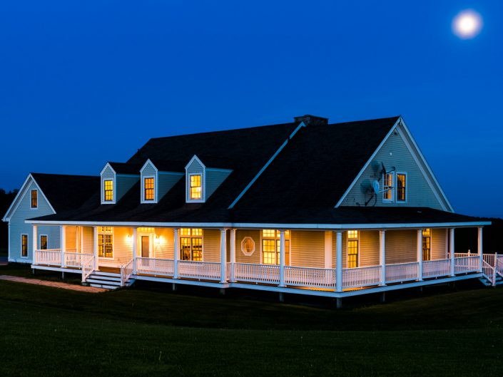 Rensselaerville NY Country Home Twilight | Upstate NY Residential Home Exterior Photography | Exteriors | New York Architectural Photographer Dave Butterworth | Real Estate | Albany NY | Saratoga Springs | Hudson Valley | Catskills | EyeWasHere