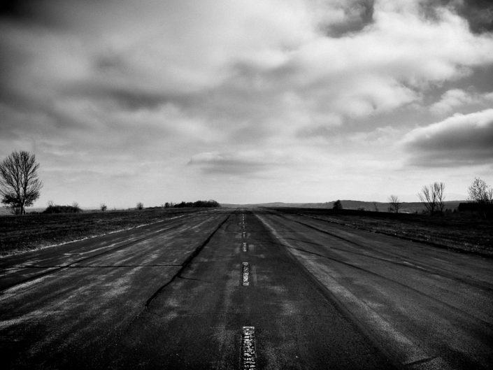 Road To Nowhere | Upstate NY Black and White Landscape Photography by Dave Butterworth | EyeWasHere Paint it Black