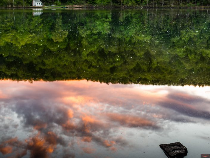 Sunset Reflection | Upstate NY Landscape Photo by Dave Butterworth | EyeWasHere Playing With A Camera, Upstate NY Landscape Photography
