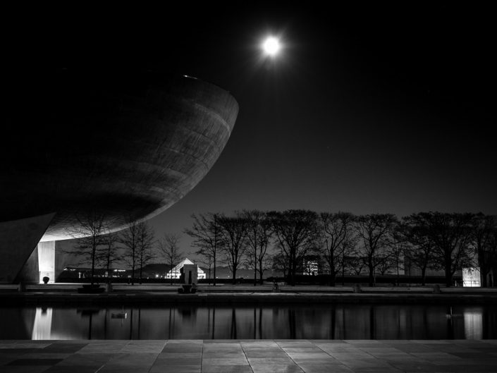 The Egg | State Plaza Albany NY Black & White Photography by Dave Butterworth | EyeWasHere Paint it Black