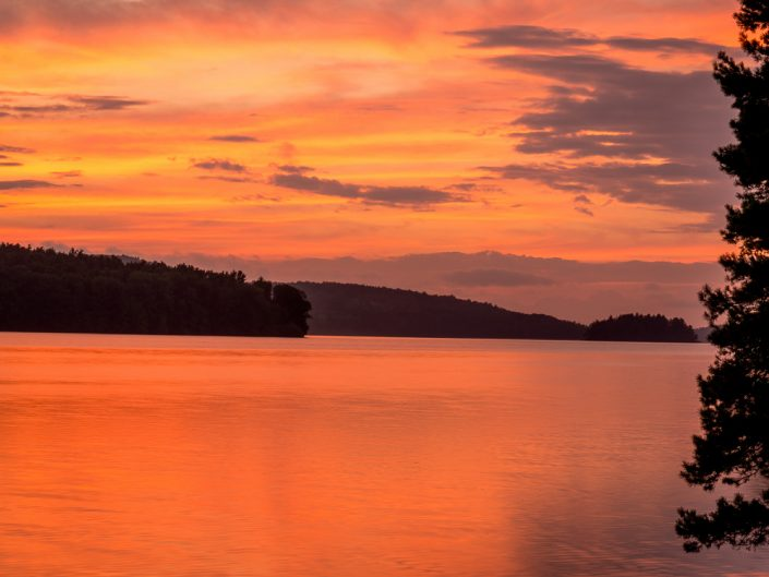 Tomhannock Reservoir Sunset | New York Orange Sunset Landscape Photography by Dave Butterworth | EyeWasHere Playing With A Camera, Upstate NY Landscape Photography