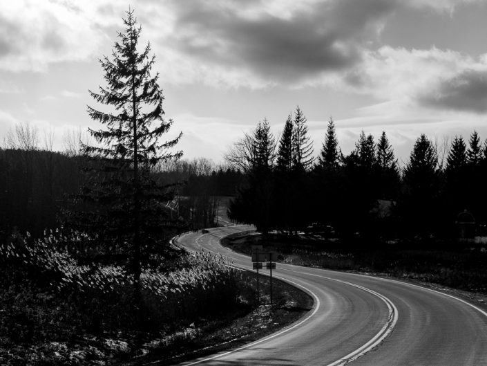 Twists & Turns | Upstate New York Black & White Landscape Photography by Dave Butterworth | EyeWasHere Paint it Black