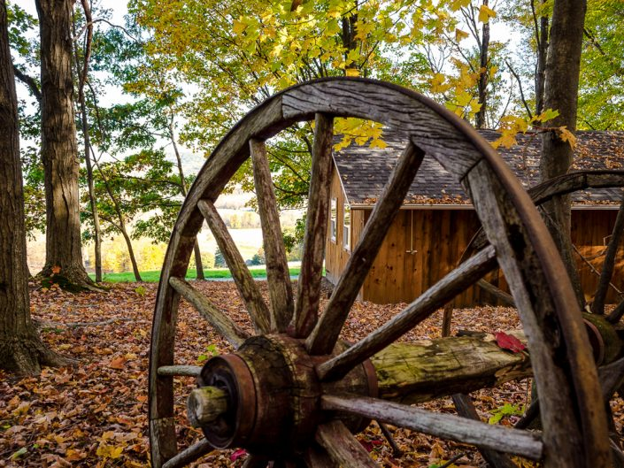 Vintage Wheel | Hillsdale NY Landscape Photography by Dave Butterworth | EyeWasHere Playing With A Camera, Upstate NY Landscape Photography