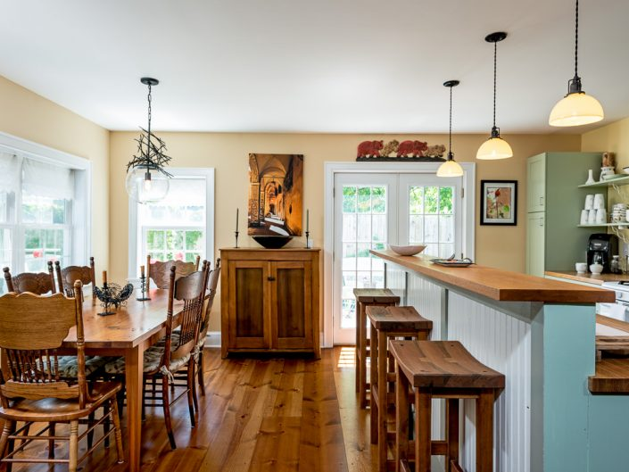 Catskills Kitchen | Wood Furniture | Airbnb | Modern | Upstate NY Residential Home Interior Photography | Interiors | New York Architectural Photographer Dave Butterworth | Real Estate | Albany NY | Saratoga Springs | Hudson Valley | Catskills | EyeWasHere