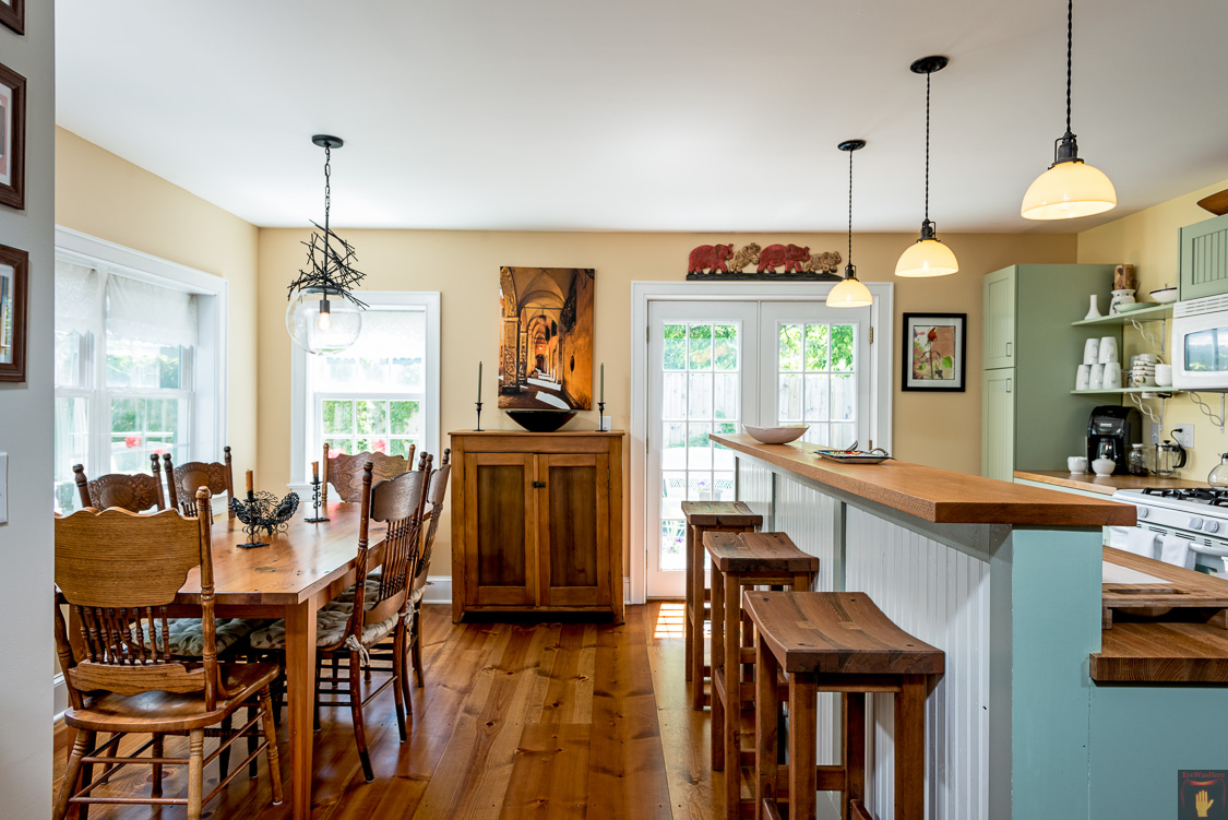 Catskills Kitchen | Wood Furniture | Airbnb | Modern | Upstate NY  Residential Home Interior Photography