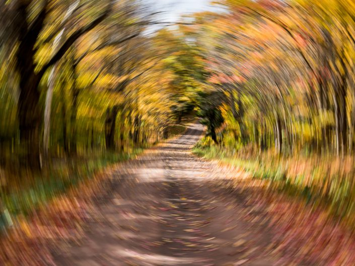 Fall Drive | Motion Blur Photography | Zoom Effect | Camera Movement | Albany NY Photographer Dave Butterworth | EyeWasHere Photography | Eye Was Here