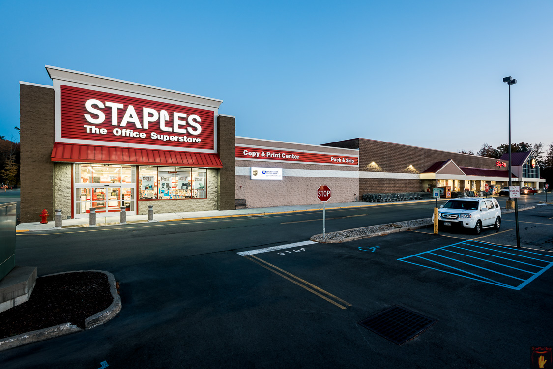 Monticello NY Shop Rite & Staples | Hudson Valley Commercial Real Estate Photographer Dave Butterworth | EyeWasHere