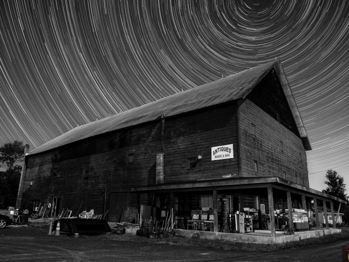 Antiques | Upstate New York Star Trails Photography | Night Photography | Albany NY | Hudson Valley | Architectural Photography | New York Photographer Dave Butterworth | EyeWasHere | Eye Was Here Photography