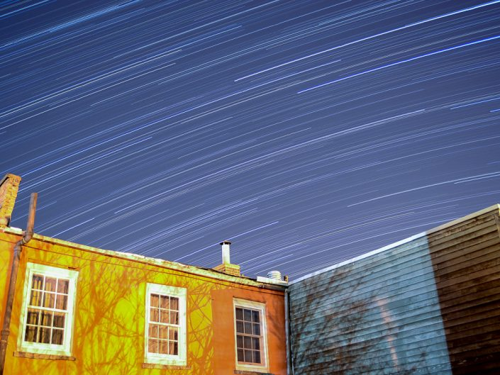 Backyard | Upstate New York Star Trails Photography | Night Photography | Albany NY | State Plaza | Architectural Photography | New York Photographer Dave Butterworth | EyeWasHere