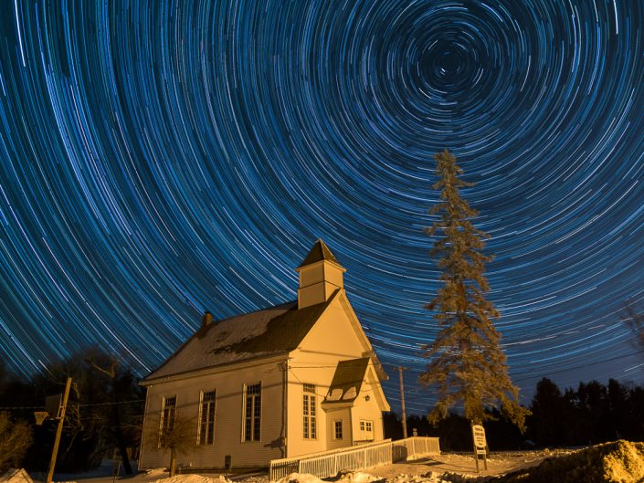 Church | Upstate New York Star Trails Photography | Night Photography | Albany NY | Hudson Valley | Architectural Photography | Thacher Park | New York Photographer Dave Butterworth | EyeWasHere