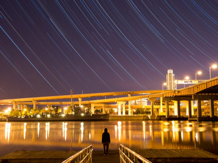 Contemplate | Upstate New York Star Trails Photography | Night Photography | Albany NY | State Plaza | Corning Tower | Architectural Photography | New York Photographer Dave Butterworth | EyeWasHere
