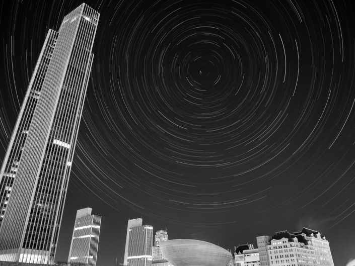 Corning Tower | Upstate New York Star Trails Photography | Night Photography | Albany NY | State Plaza | Architectural Photography | New York Photographer Dave Butterworth | EyeWasHere