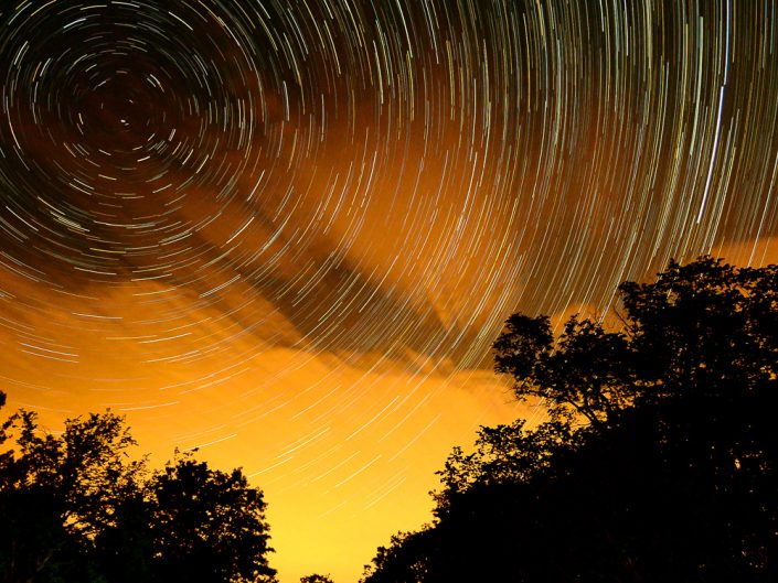 Forest Fire | Upstate New York Star Trails Photography | Night Photography | Albany NY | Hudson Valley | Thacher Park | Landscape | New York Photographer Dave Butterworth | EyeWasHere