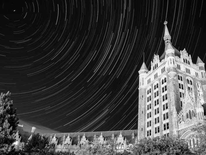SUNY Headquarters | Upstate New York Star Trails Photography | Night Photography | Albany NY | Architectural Photography | New York Photographer Dave Butterworth | EyeWasHere | Eye Was Here Photography