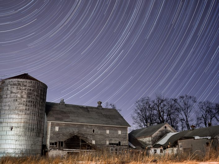 Silver Barn | Upstate New York Star Trails Photography | Night Photography | Albany NY | Hudson Valley | Architectural Photography | New York Photographer Dave Butterworth | EyeWasHere | Eye Was Here Photography