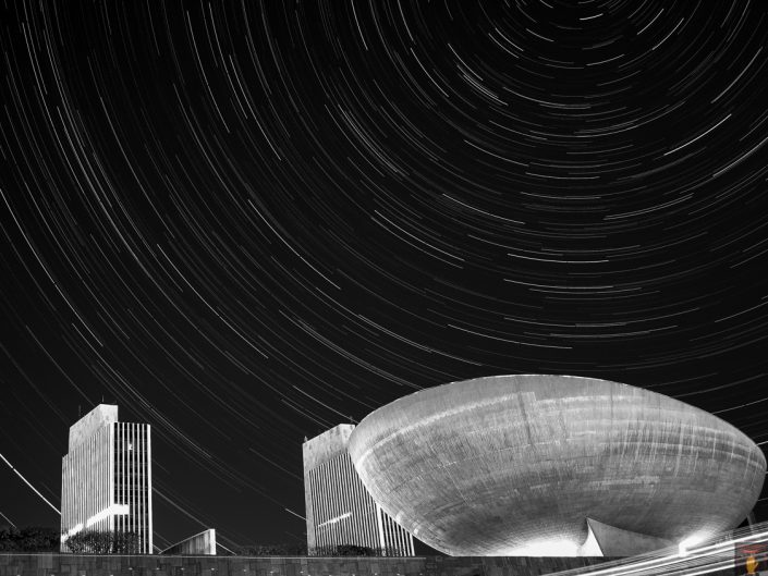 State Plaza | Upstate New York Star Trails Photography | Night Photography | Albany NY | Architectural Photography | New York Photographer Dave Butterworth | EyeWasHere