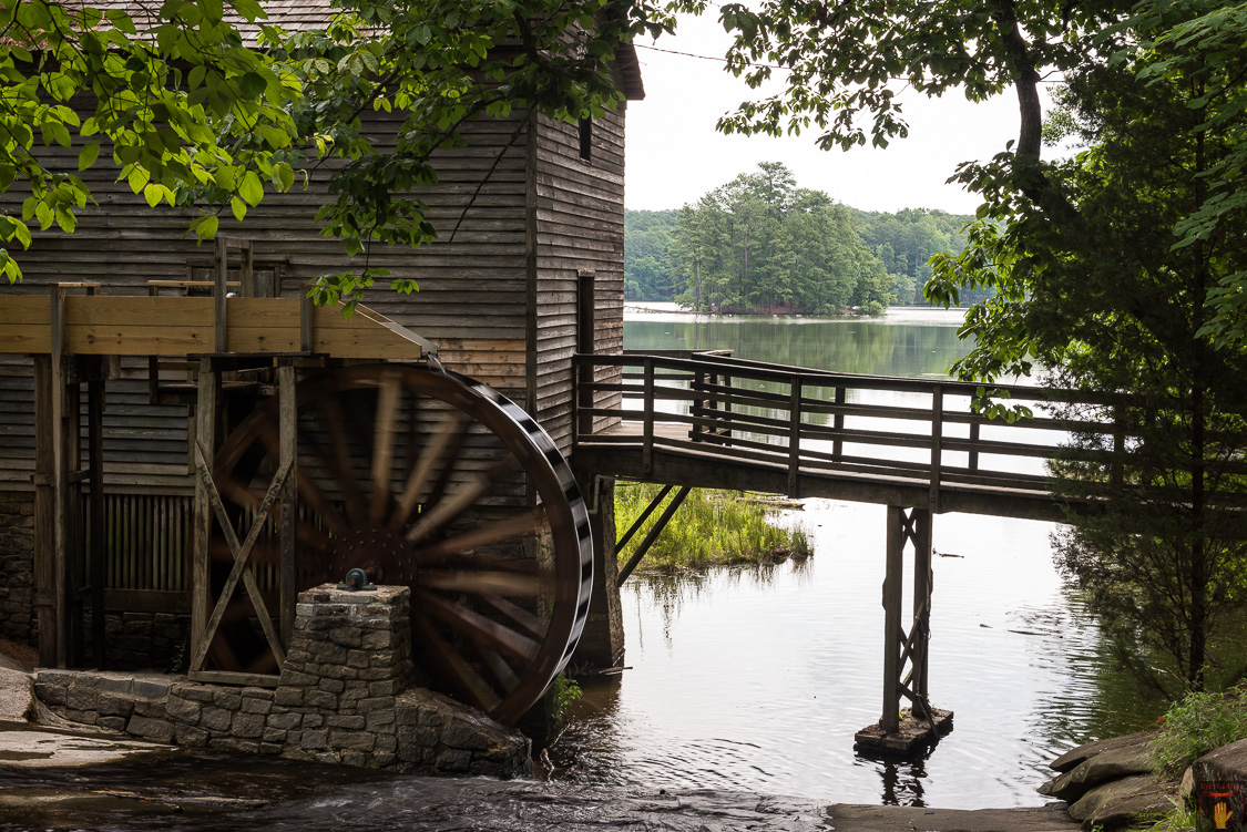 Stone Mountain, Atlanta GA | Travel Landscape Photography. Nature Photography. History and Architecture. Confederate Memorial Carving. Grist Mill | Photographer Dave Butterworth | EyeWasHere