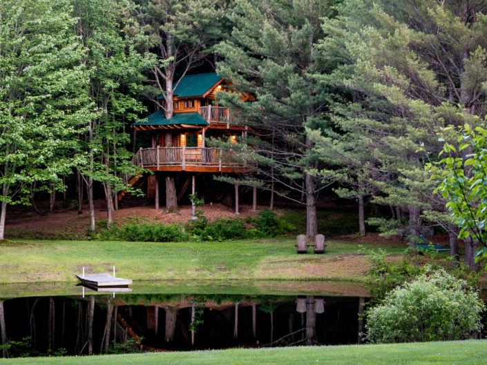 Waterbury VT Treehouse | Hotel Exterior Photography | Bed & Breakfast | BNB | Real Estate | Architecture | Interior Design | Albany NY Photographer Dave Butterworth | EyeWasHere | Eye Was Here Photography