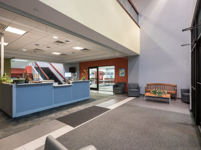 Albany NY Boces Entrance and Waiting Area | Upstate NY Commercial Interior Photography | Albany NY Architectural Photographer Dave Butterworth | Real Estate | EyeWasHere | Eye Was Here Photography