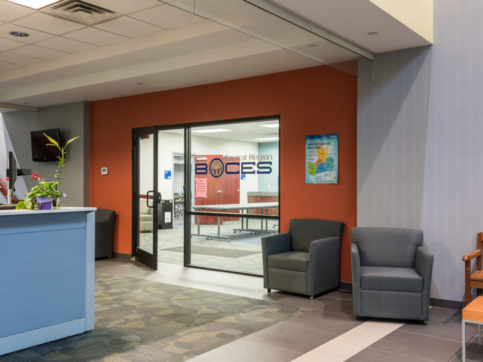Albany NY Boces Entrance and Waiting Area 2 | Upstate NY Commercial Interior Photography | Albany NY Architectural Photographer Dave Butterworth | Real Estate | EyeWasHere | Eye Was Here Photography